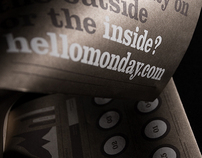 Hello Monday - Direct mail poster (new website)