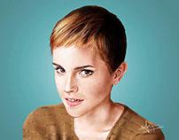 Digital Portrait - Emma Watson