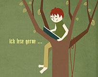 Reading. Illustration serie.