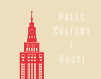 Palace of Culture and Science in Warsaw. Infographic.