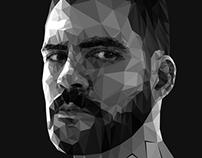 Polygonal self-portrait