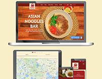Website design - Asian Noodles Bar