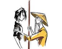 Fantasy story illustrations