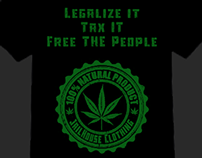Legalize it, Tax it, Free the People T-Shirt Design