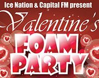 National Ice Centre Valentine's Day Foam Party Creative