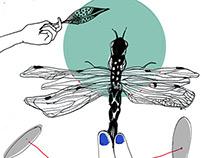 Invasión de libélulas