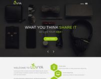 Lovya One Page PSD Template