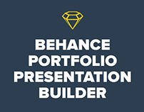 Behance Portfolio Presentation Builder for Sketch
