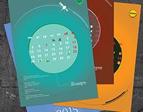 Amazing Corp. Vector calendar of 2015