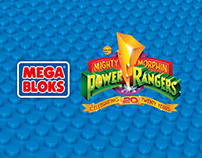 Mega Bloks Power Rangers 20th Anniversary Blister Pack