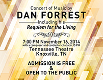 A Concert of Music by Dan Forrest Poster & Program