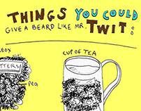 Things you could give a beard like Mr. Twit