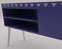 Violet commode