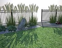 Little grass garden