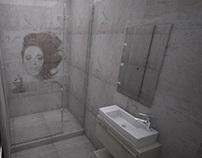 bathroom with woman