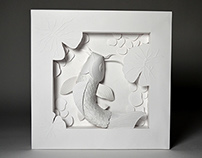 Koi Paper Sculpture
