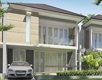 Arsitektur villa Teduh moderen di Trawas Jawa timur