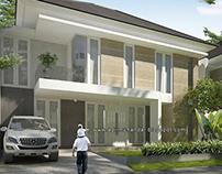 Arsitektur villa tropis moderen di trawas Jawa timur