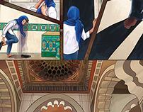 Hassan II Mosque (digital illustration)