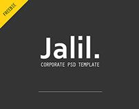 Jalil - corporate freebie psd template