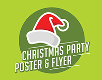 Christmas party poster & flyer