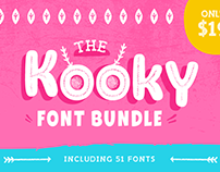 The Kooky Font Bundle with 51 Font Families