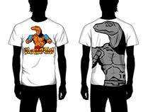 Komodo t-shirt design concept