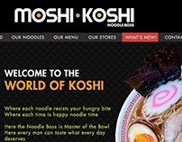 Moshi-Koshi Noodle Boss Website