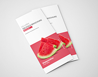 US Letter Tri Fold Brochure Mockup
