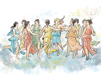 Appolon and his 9 muses