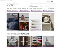 RZK Textiles ebay store design