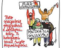 Ilustracje dla wrocławskiego magazynu 'Wrocław.Tygodnik