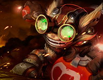 League of Legends: Ziggs Splash Art