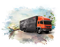 Watercolor Calendar - Mitsubishi Fuso 2015