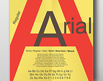 Arial Typographic Posters