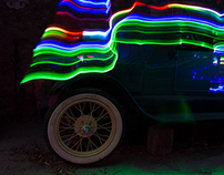 Oldtimer with Lightpainting