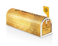 Diamant Jaune - Veuve Clicquot Mailbox