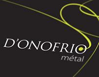 Logo et cartes de visite ferronerie D'Onofrio Métal