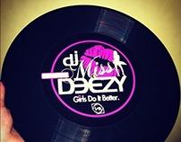 DJ Miss Deezy Record Label Design