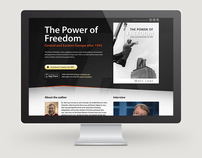The Power of Freedom book microsite