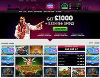 Responsive Casino Homepage