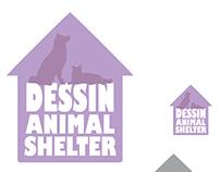 Dessin Animal Shelter Logo Mock