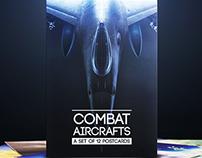 Combat Aircrafts: A set of 12 postcards