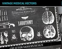Vintage Medical Vectors - Skulls, Chalkboard Designs