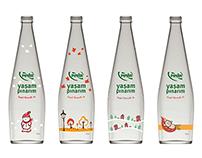 Season Illustrations of Pınar's bottles.