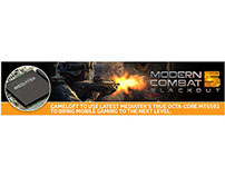 "Web Banner Advertising For ""Modern Combat 5"""