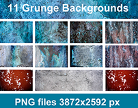 11 Grunge Backgrounds