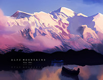 Alps matte paintings