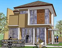 Desain arsitek rumah minimalis di lahan hook Surabaya
