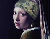 Girl with a combat earring